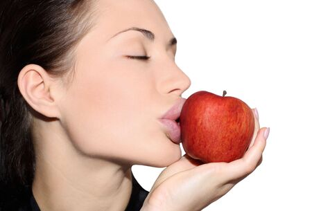 Woman with an apple Stock Photo - 4627958