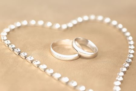 Wedding Rings surrounded by  Stock Photo - 4910903