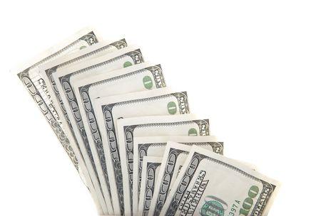 Dollars against white background Stock Photo - 5074318