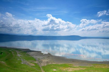 Peaceful view on the lake Nakuru. Africa. Kenya photo