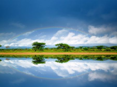 Rainbow. Kenya. Africa photo