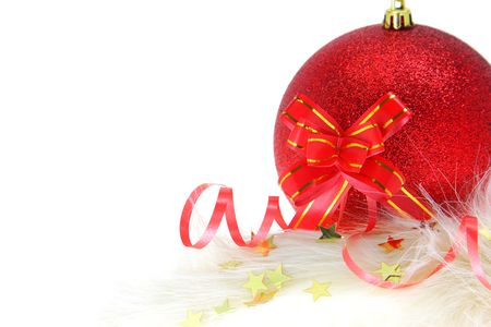 Christmas and New Year ornament isolated on white photo