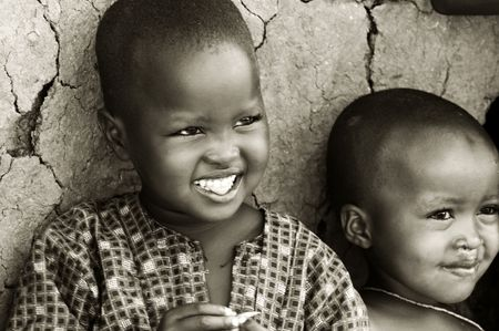 Portrait of African kids smiling. Stock Photo - 6890963