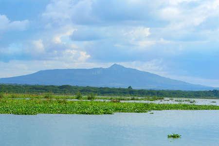 lake naivasha: Peaceful view on lake Naivasha. Africa. Kenya Stock Photo