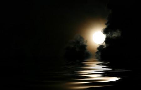 Full moon cloudscape photo
