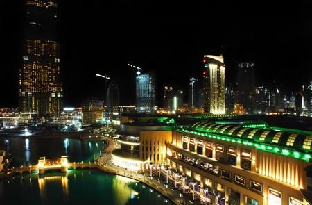 Dubai downtown at night photo