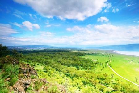 nakuru: Peaceful view. lake Nakuru. Africa. Kenya