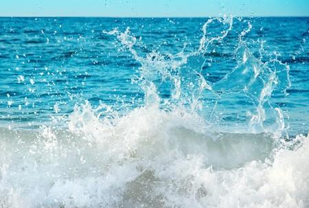 breaking wave: Close-up of beautiful water splash Stock Photo