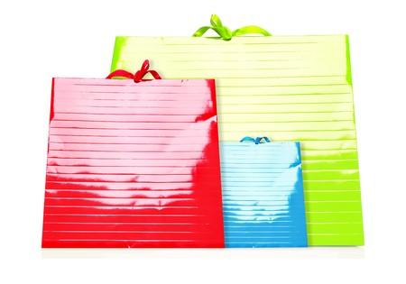 Colorfu Shopping Bags isolated on white photo