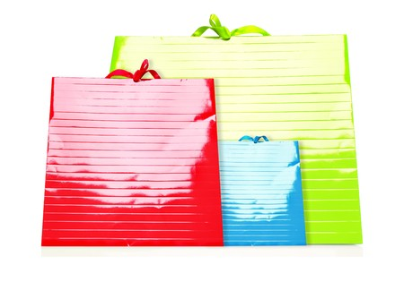 colorfu: Colorfu Shopping Bags isolated on white