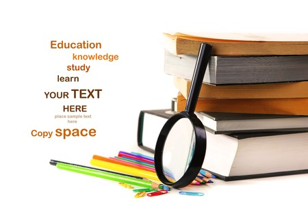 stuff: Study time conceptual image of education & knowledge Stock Photo