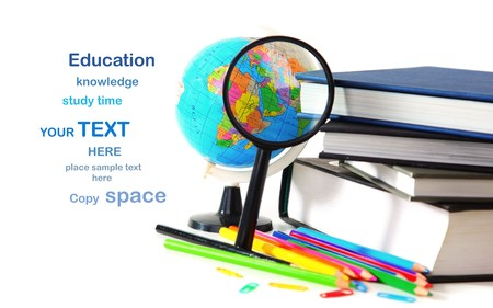 zoom earth: Study time conceptual image of education & knowledge Stock Photo