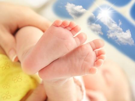 Tiny baby feet photo