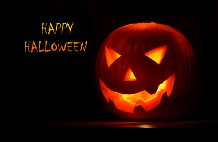 Halloween pumpkin, creepy holyday background Stock Photo - 7842106