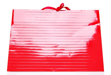 Red Shopping Bag isolated on white photo