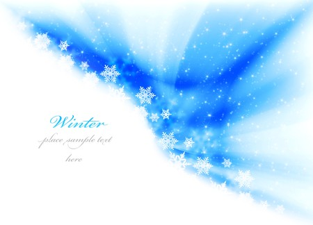 Abstract winter background with snow & copy space Stock Photo - 7948419