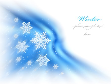 Abstract winter background with snow & copy space Stock Photo - 8015190