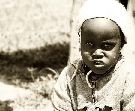 Portrait of an African child, Masai Mara, Kenya