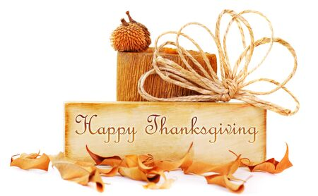thanksgiving greeting: Thanksgiving card isolated on white background