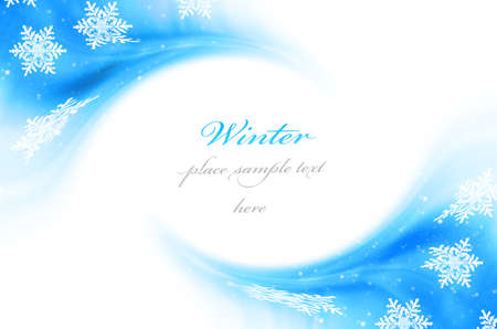 Holiday winter background with snow & copy space Stock Photo - 8184058