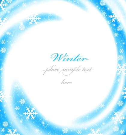 Abstract Christmas border card decoration with blue winter ornament as holiday frame background Stock Photo - 8267456