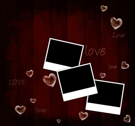 wedding photo frame: Biglietto San Valentino Rossi, vacanza sfondo con cornici, cuori amore testo