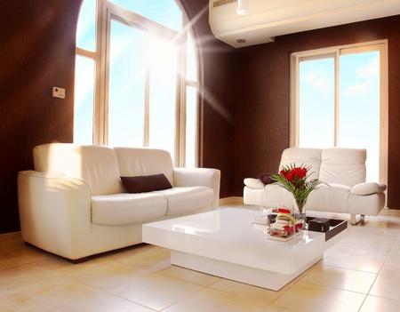 Luxury apartment with stylish modern interior design Stock Photo - 8638560