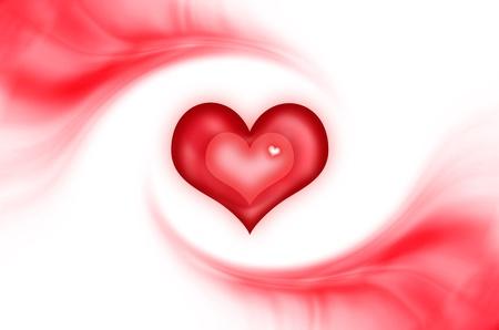 赤いハートのロゴ抽象的な愛の背景