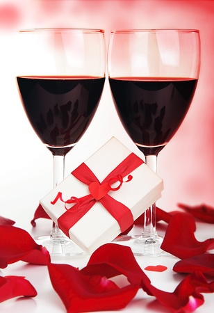 Romantic holiday drink, celebration of valentines day, love concept photo