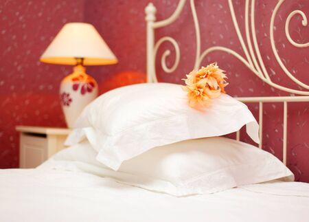 Romantic bedroom luxury interior design with warm light Stock Photo - 8749959