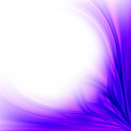 Beautiful fresh purple floral border background isolated on white photo