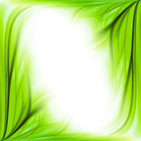 green artistic: Beautiful fresh green grass flower frame background isolated on white
