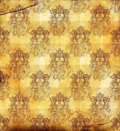 Grunge wallpaper, floral textured background pattern Stock Photo - 8876374