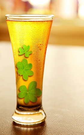 Cold beer for st.Patrick's day holiday celebration, lucky concept Stock Photo - 8968122