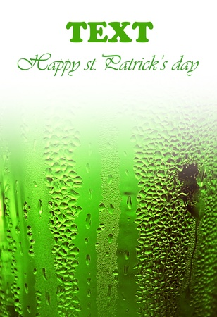 Green clover beer background border, st.Patricks day holiday celebration with text space, lucky concept  photo