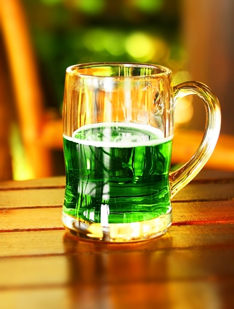 Cold green beer for st.Patrick's day holiday celebration Stock Photo - 8980319
