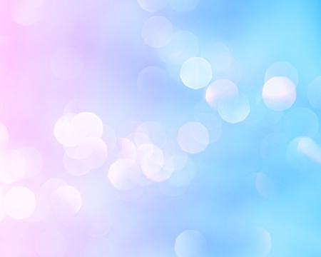 Bright holiday background bokeh with magic blur blue pink lights  photo