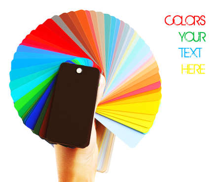Colors range palette isolated on white background Stock Photo - 9476074
