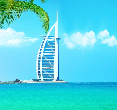 DUBAI,UAE-Nov.21:Burj Al Arab - at 321m second tallest hotel in the world, luxury hotel stands on an artificial island,Nov.21,2009 Jumeirah beach, Dubai,United Arab Emirates