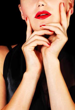 Beautiful sexy female portrait, fashionable stylish makeup Stock Photo - 9763146