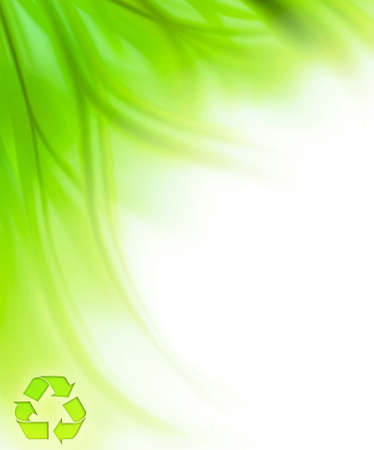 Beautiful fresh green grass border background isolated on white with recycle symbol, help to save the earth concept Stock Photo - 9972776