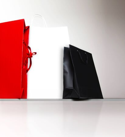 Shopping bags, gifts and presents, holiday shopping lifestyle, spending money concept photo