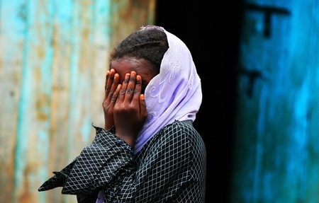 africa child: Portrait of an African girl, Kenya