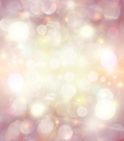 боке: Абстрактный фон праздник, красивые блестящие рождественские огни, светящиеся магией боке