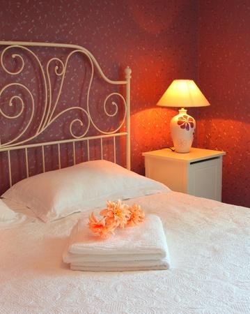 Romantic bedroom luxury interior design with warm light Stock Photo - 12588455