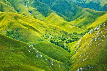 South African mountains beautiful landscape background, green spring aerial view of African continent, scenic wild nature, Outeniqua Pass, ecotourism and travel photo