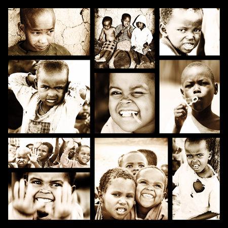 Afrique, le Kenya - 8 nov: portrait de jeunes africains de Masai Mara village tribal, reportage sur les pauvres sans-abri près de la vie des enfants du Masai Mara Réserve de parc national le 8 Novembre 2008, le Kenya, l'Afrique