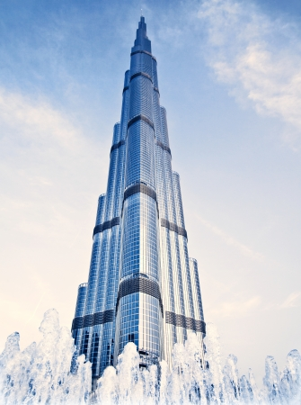 DUBAI, UAE - FEBRUARY 16: Burj Khalifa - worlds tallest tower in the world at 828m, located in Downtown Dubai, Burj Dubai on February 16, 2012 in Dubai, United Arab Emirates
