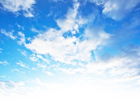 clean air: Blue sky background, beautiful abstract natural backdrop, wallpaper with fluffy clouds and bright light, fresh clean clear cloudscape, image of clouds pattern, summer day light