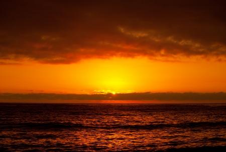 Beautiful orange sunset photo